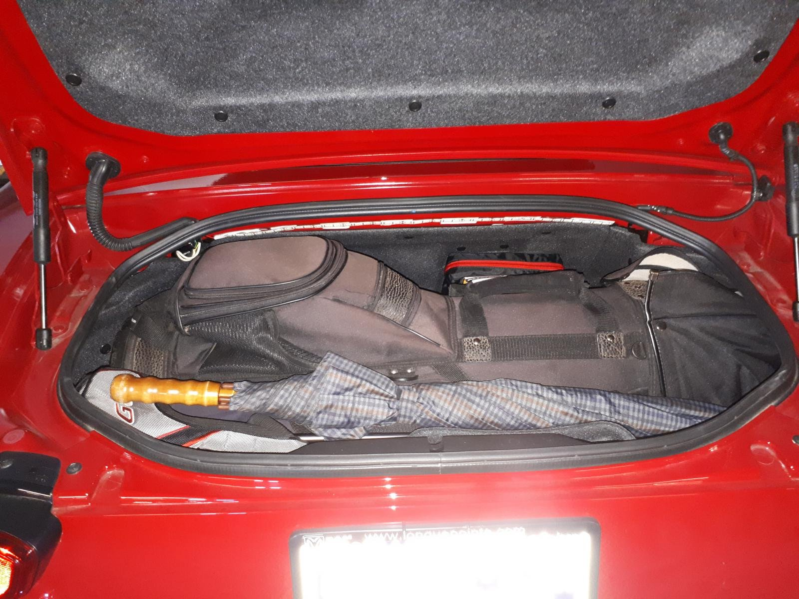 Packed my Golf Bag in the trunk ready to Rumble - Fiat 124 Spider Forum