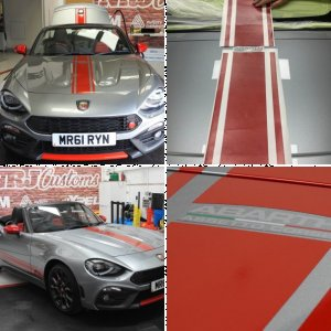 Abarth 124 Spider - Custom decals and stripes - Scotland